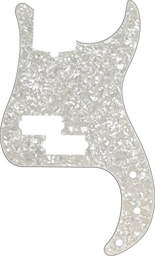 - Fender Modern Pickguard, Precision Bass, 13-Hole - White Moto