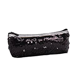 Feature       Color:  Green,Black ,Rose Gold,Sky Blue       Style: Casual, Kawaii       Material: Sequins + Polyester       Type: Women Kids Mermaid Sequins Handbag Coin Purse       Pattern Type: Mermaid Sequins       Size : (L*H*W) ab...