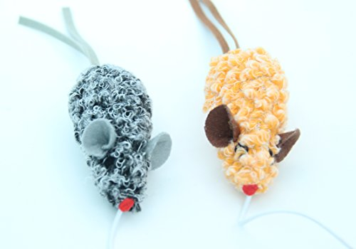Image of SCENEREAL Best Interactive Cat Toys Mouse Set Cute Funny Mice Teaser Toy for Boredom 6 Pack