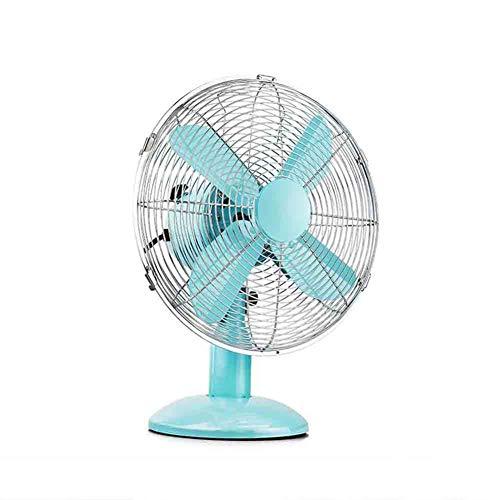 "Sunny Desk Table Fan Vintage Floor Fan Portable Adjustable Tilting Tilt Electric Air Cooling 3 Speed Home Office Fan, 12"""