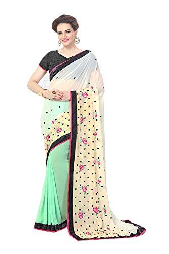 Da Facioun Indian Sarees for Women Wedding Designer Party Wear Traditional Multi Color Saree. by Da Facioun