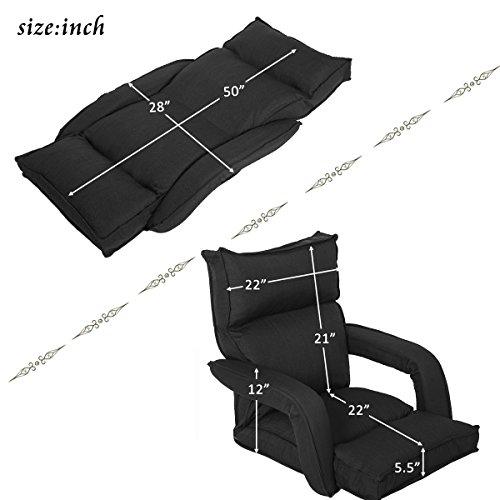 Pleasant Merax Adjustable Fabric Folding Chaise Lounge Sofa Chair Cjindustries Chair Design For Home Cjindustriesco