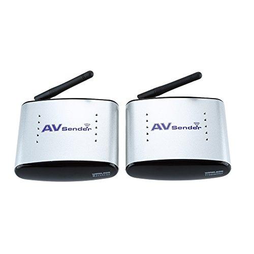 Andoer 150M PAT-330 2.4G Wireless AV Audio & Video Sender Transmitter & Receiver System for DVD/DVR/IPTV/CCTV Camera/TV 2.4 Ghz Video Sender