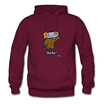 Styling X-large Hoodies Burgundy Cuddler: Bye-bye Painting Women Cotton S