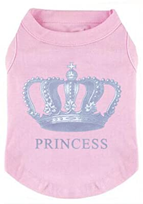 EXPAWLORER Prince Fashion Pet T-Shirt Small Dog Cat Vest Clothes Puppy Costumes for Chihuahua Yorkshire Terrier