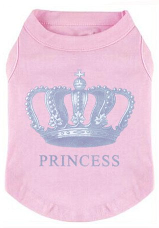 (EXPAWLORER Princess Fashion Pet T-Shirt Small Dog Cat Vest Clothes Puppy Costumes for Chihuahua Yorkshire Terrier Pink S)