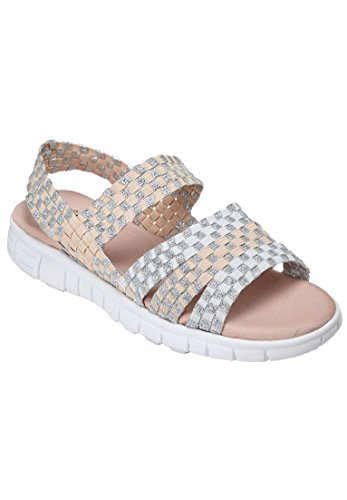 Comfortview Womens Large Lily Sandale Blush Multi