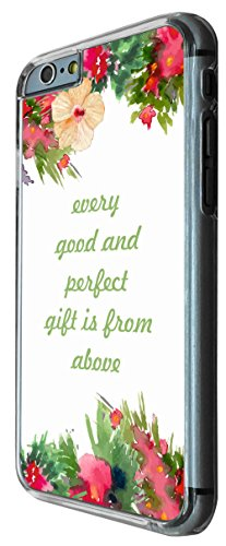623 - Floral Christian Quote Shabby Chic Every Good And Perfect Gift is from above Design iphone 6 6S 4.7'' Coque Fashion Trend Case Coque Protection Cover plastique et métal