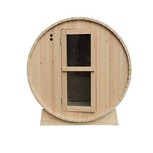 RDX Sauna Traditional Indoor and Outdoor Hemlock Dry Wet...