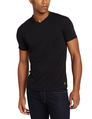 tasc Performance Men's V-Neck Undershirt, Black, XX-Large