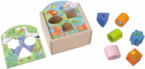 - HABA Animals Sorting Box - Wooden Shape Sorter and Matching Toy for Ages 1 and Up (Made in Germany)