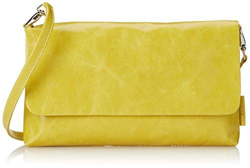 JostToronto Clutch - Bolso mujer Amarillo - Yellow (Sulphur)