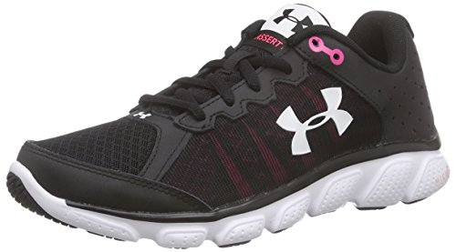 Under Armour Women's Micro G Assert 6, Black (001)/Harmony Red, 8.5