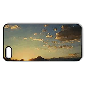 Beach Scene Sunset Watercolor style Cover iPhone 5 and 5S Case (Sun & Sky Watercolor style Cover iPhone 5 and 5S Case)