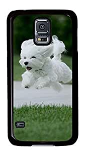 Best Samsung Galaxy S5 Case Cover Custom Phone Shell Skin For Samsung Galaxy S5 With Happy White Dog Kimberly Kurzendoerfer