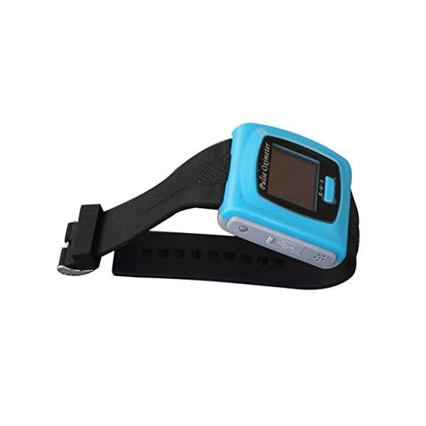 BLYL Muñequera CMS-50F Monitor de Saturación de Oxígeno y Medición de la Frecuencia Cardíaca con Pantalla OLED para la Salud Deporte, Cuidado de la Salud en el Hogar, Azul OXIMETER 6