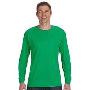Gildan Mens 5.3 oz. Heavy Cotton Long-Sleeve T-Shirt (G540) -NAVY -M