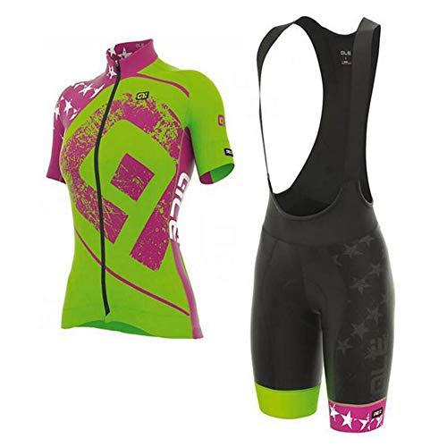 預言者後方複数BING JERSEY 新しい2013夏の女性グリーンカラージャージー半袖スーツマウンテンバイクサイクリングショーツ装備自転車服 (色 : Green, サイズ さいず : XXXL:(180-192cm)(90-99kg))
