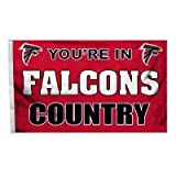 NFL Atlanta Falcons Country 3-by-5 Feet Flag with Grommets