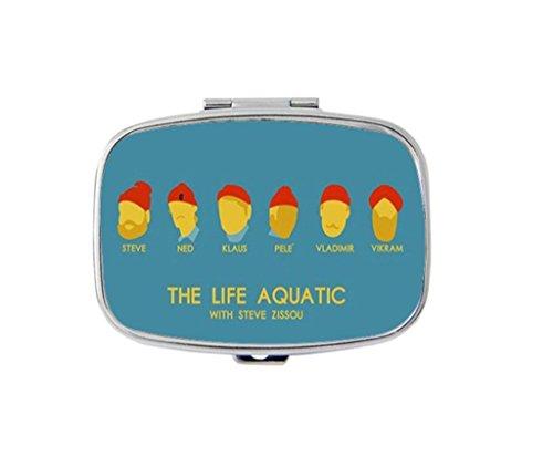 Aquatic Medication (The Life Aquatic With Steve Zissou Custom Fashion Rectangular Pill Box Medicine Tablet Holder Organizer Case)