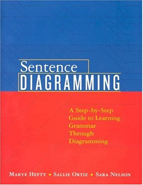Amazon Com Sentence Diagramming A Step By Step Approach To Learning Grammar Through Diagramming 9780205551262 Hefty Marye Ortiz Sallie Nelson Sara Books