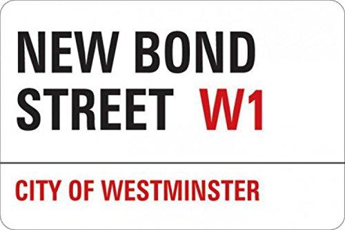 (1art1 London Sticker Adhesive Decal - New Bond Street (4 x 4 inches))