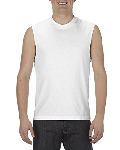 Men's Classic Sleeveless Muscle T-Shirt, White, XX-Large ()