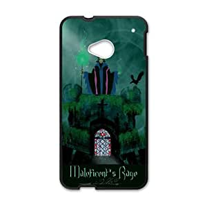 HTC One M7 Cell Phone Case for Classic Theme Disney Maleficent Cartoon pattern design GDSNMLT10918