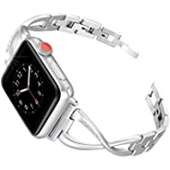 [Sponsored]Secbolt Stainless Steel Band Compatible Apple Watch Band 38mm 40mm Women Iwatch Series...