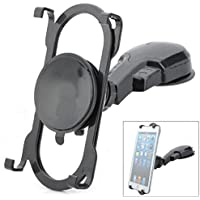ZTE Lever Compatible Rotating Car Mount Tablet Phone Holder Dashboard Dash Desktop Swivel Cradle Dock Suction Black
