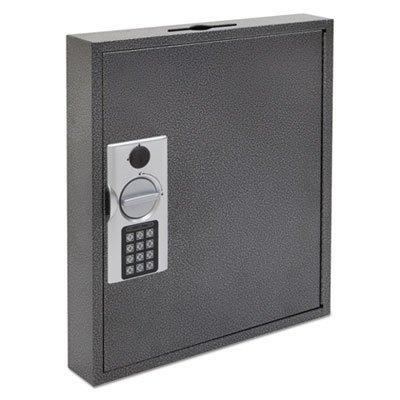 Hercules Key Cabinets E-Lock, 120-Key, Steel, Silver Vein, Sold as 1 Each