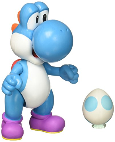"World of Nintendo 4"" Blue Yoshi Action Figure w/ Egg Wave 9"