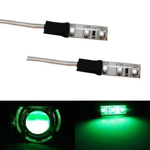 iJDMTOY Exotic Green Devil Demon Eye LED Strips Modules For Projector Headlights Retrofit ()