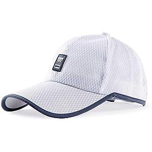AL- メッシュキャップ, 通気性抜群 日除け UVカット 紫外線対策スポーツ帽子,男女兼用 速乾 軽薄 日よけ野球帽,登山 釣り ゴルフ 運転 アウトドアなどにメッシュ帽 (白)