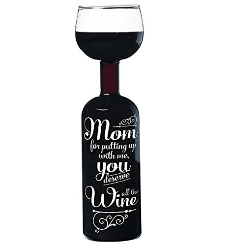 Funny Whole Bottle Wine Glass for Mom