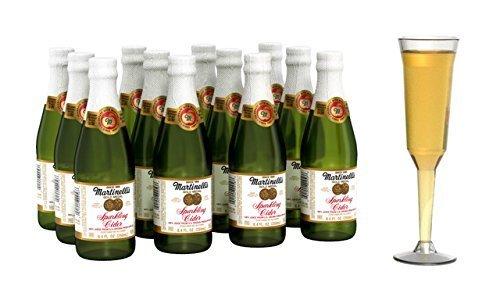 Bottle Cider Apple (Martinelli's Tasty Gold Medal Sparkling Apple Cider, 8.4 fl. oz. Pack of 12 Bottles)