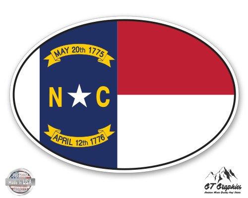 GT Graphics North Carolina State Flag Oval - 3