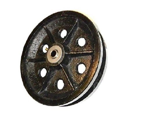 Cast Iron V-Groove Wheel 8'' x 2'' with 1/2'' ID Roller Bearing 1000# Cap. 820VS64