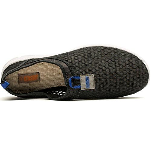 Cerf Femmes Plage Aqua Chaussures De Leau En Plein Air Maille Occasionnels Chaussures De Marche Léger Respirant Noir-bleu