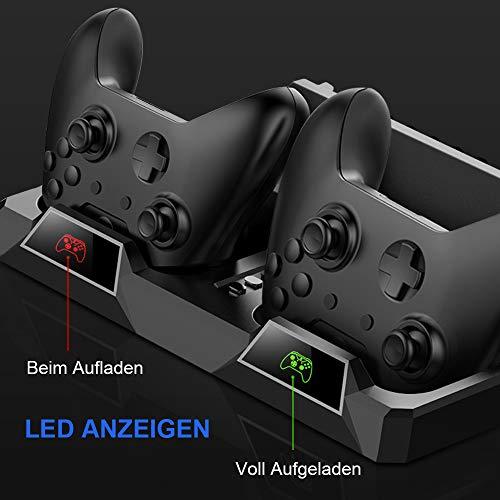 PS4 Vertikaler Standfuß, bedee PlayStation 4 Vertikal Stand mit Kühler Lüfter, DualShock 4 Controller Ladestation mit LED, Ladegerät mit 16 Spielaufbewahrung für Alle PS4/PS4 Slim/PS4 Pro