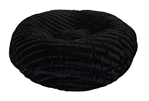 BESSIE AND BARNIE 24-Inch Bagel Bed for Pets, X-Small, Black Puma by BESSIE AND BARNIE (Image #3)