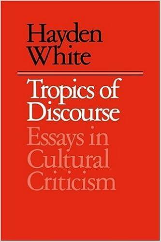 hayden white tropics of discourse summary