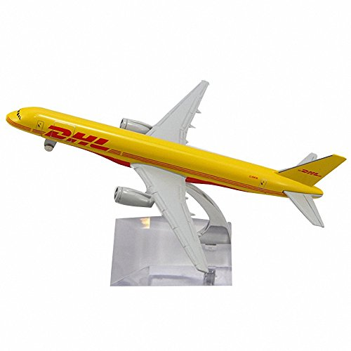 Aohang B757 DHL KARGO Metal Alloy Airplane Model Plane Toy Airways Plane Model (B757 Plane)