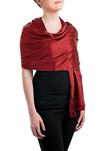Opulent Luxury Scarf Shawl Wrap 100% Silk Soft Burgundy 76