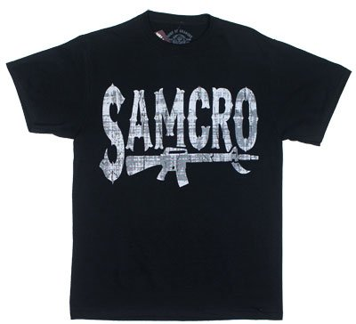 Sons Of Anarchy - Mens Rifle Logo T-shirt Large Black