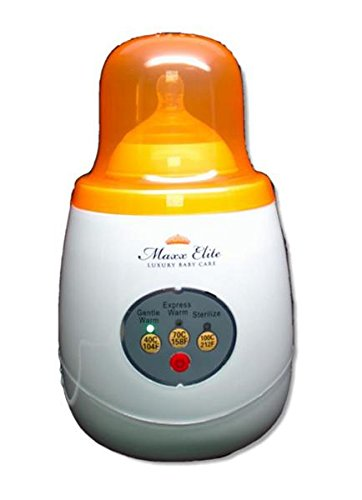Maxx Elite Gentle Warm Smart Bottle Warmer & Sterilizer w/Steady Warm (Orange)