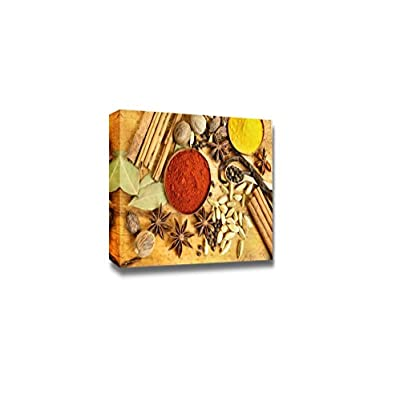 Canvas Prints Wall Art - Various Spices Background - 32