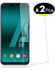 NEW'C Pacco da 2 Pezzi, Pellicola Protettiva in Vetro Temperato per Samsung Galaxy A50 (SM-A505F)