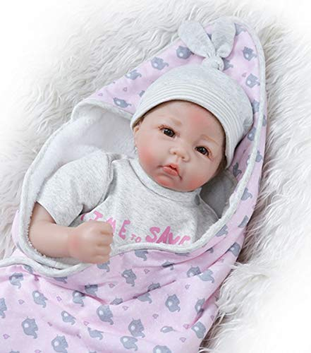 TERABITHIA 20inch 50cm Truly Handmade My Little Sweetheart Reborn Baby Doll in Silicone Vinyl Soft Stuffed Body Real Newborn Dolls Collectible Look Realistic