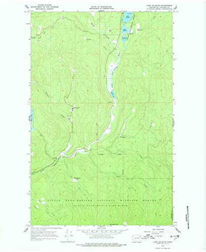 YellowMaps Lake Gillette WA topo map, 1:24000 Scale, 7.5 X 7.5 Minute, Historical, 1966, Updated 1978, 26.9 x 22 in - Tyvek